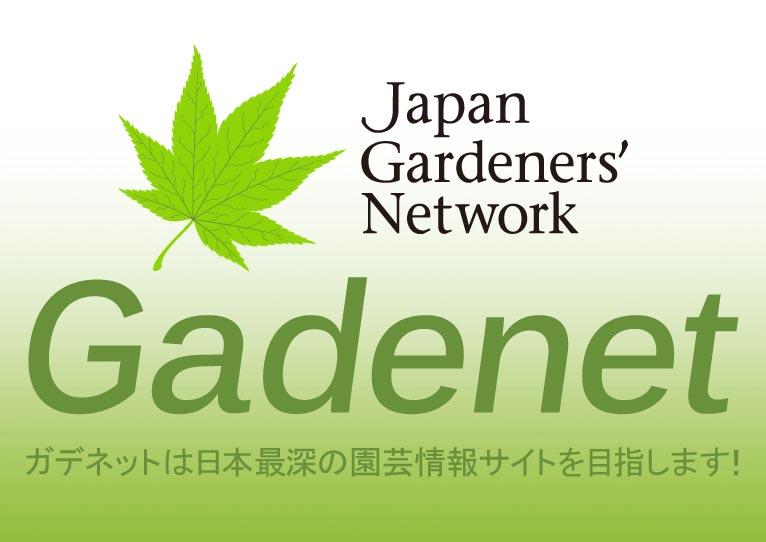 gadenet(ガデネット)ロゴ ガデネットは日本最深の園芸情報サイトを目指します