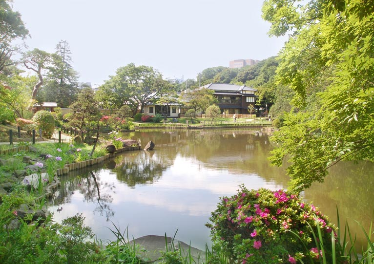 Saturday 21 April 2018 The Special Garden Walk Scents in the Japanese garden Higo Hosokawa Garden in Bunkyo city Tokyo