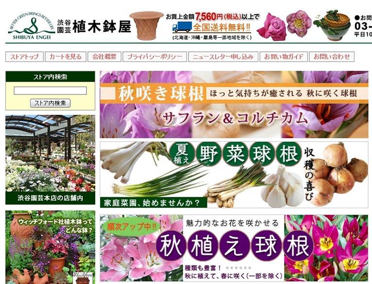 ~2019年8月31日Yahoo!ショッピング10%off株式会社 渋谷園芸