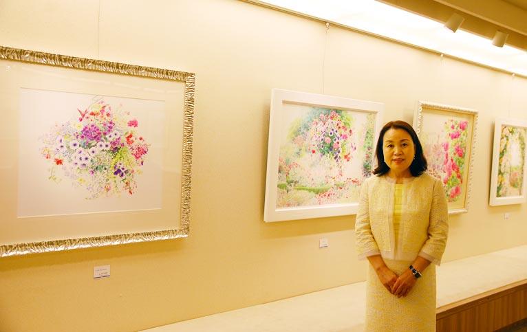 渡辺三絵子 花の水彩画展に行ってきました!渡辺三絵子先生