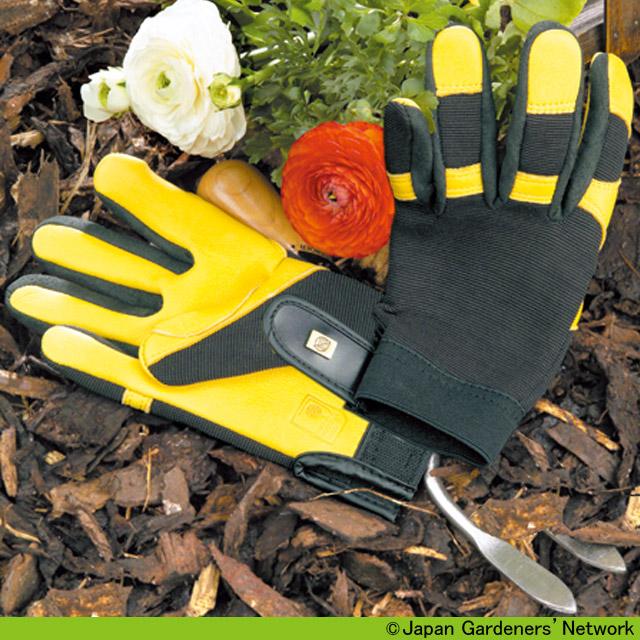 【JGN WEB SHOP】英国王立園芸協会(The Royal Horticultural Society) 英国JAYCO社製RHSゴールドリーフ ガーデニンググローブ ソフトタッチ