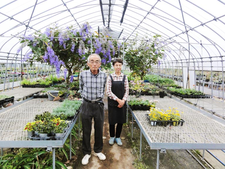 NURSERIES vol.11 むらかみ農園 村上公一さん(左)と奥様のちづ子さん(右)