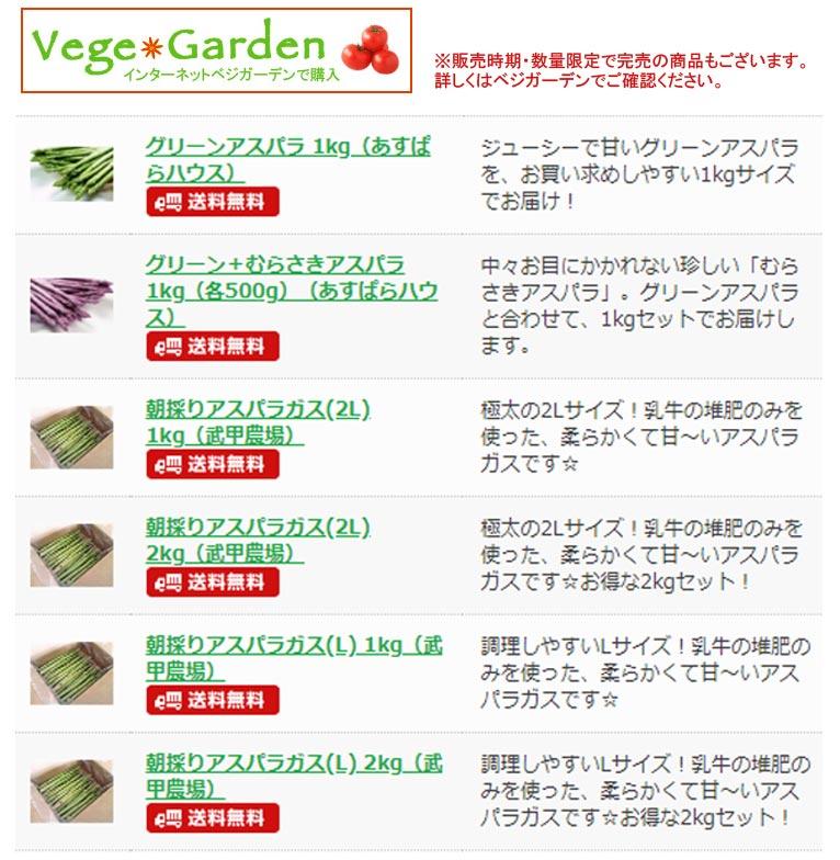 【栄養たっぷり!ジューシーで甘い!アスパラガス】 ベジガーデン Vege Garden 朝日工業(株)