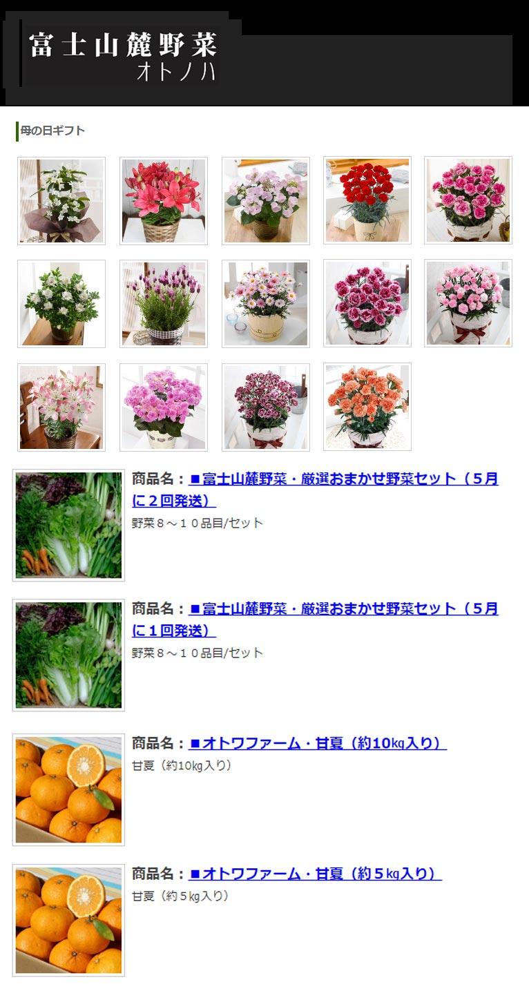 2018年4月一押し植物・寄せ植え教室 音ノ葉oto-no-ha 母の日ギフト承ります!「富士山麓野菜oto-no-ha」