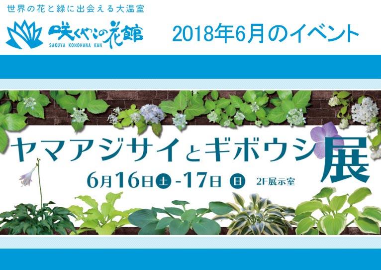 咲くやこの花館 2018年6月のイベント