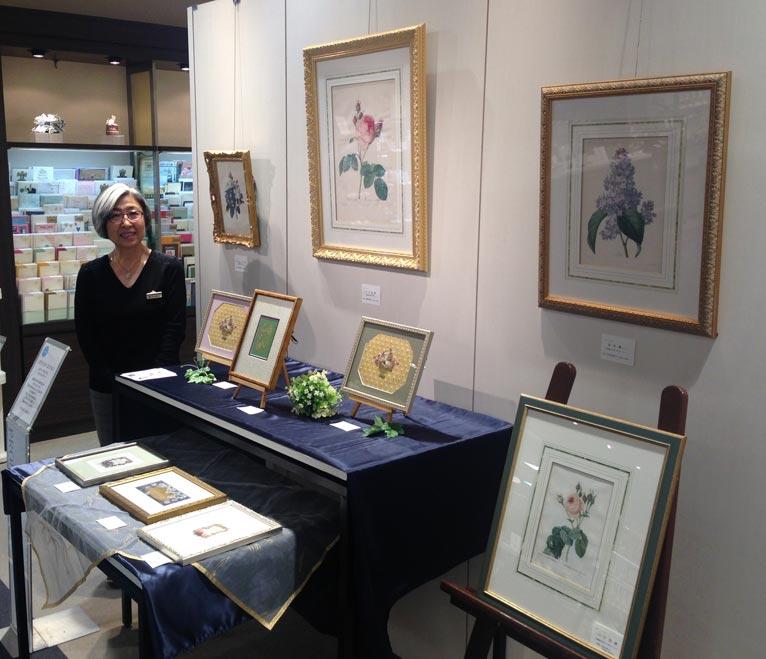 「ルドゥーテの薔薇とボタニカルアート展」にオランジェリー・コレクション大根恒子さんを訪ねました。