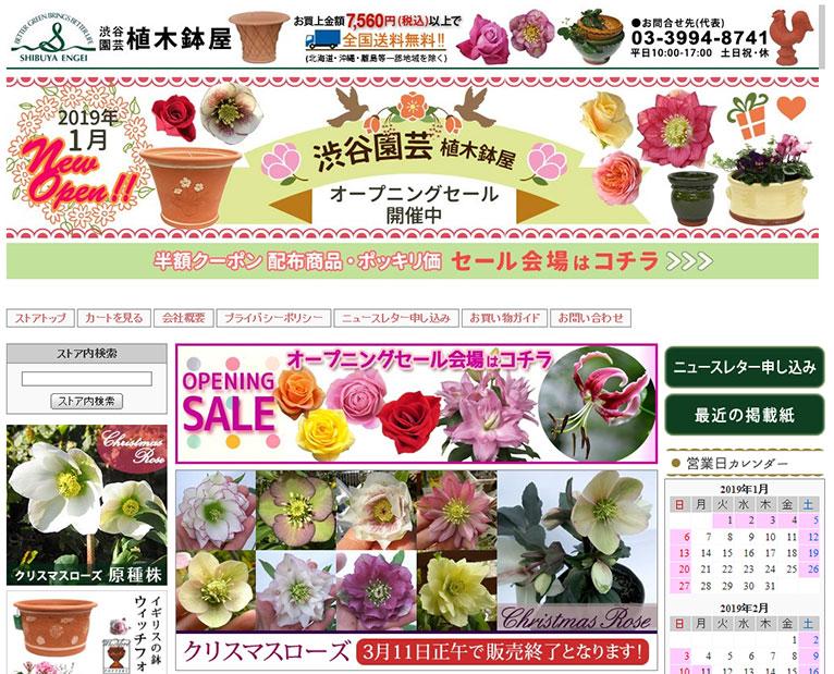 【OPEN SALE 開催中!】Yahoo!ショッピングにWEBshopニューオープンいたしました!!!株式会社 渋谷園芸