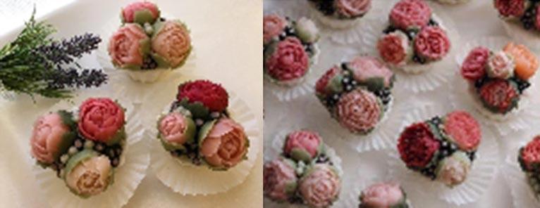 池袋コミュニティ・カレッジバラぐらし講座特集 あんフラワーレッスン 白あんでつくるバラのカップケーキ