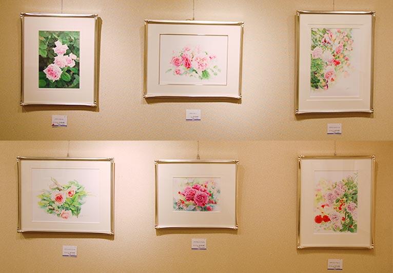 2019年4月23日まで小田急百貨店 新宿店にて開催されている『渡辺三絵子 花の水彩画展』に行ってきました!
