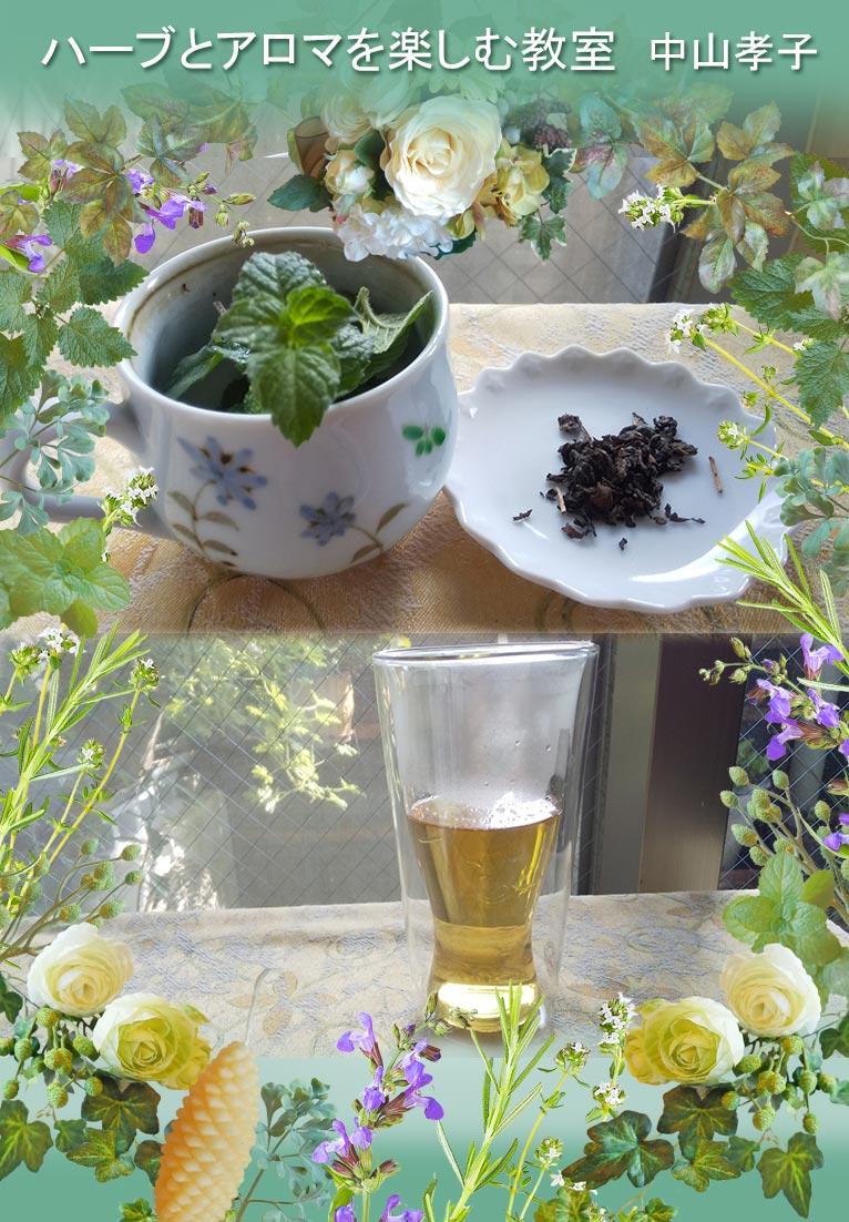ハーブ教室が夏休みをいただいている8月、毎日薬膳茶のおさらいをしています。ハーブとアロマを楽しむ教室 中山孝子