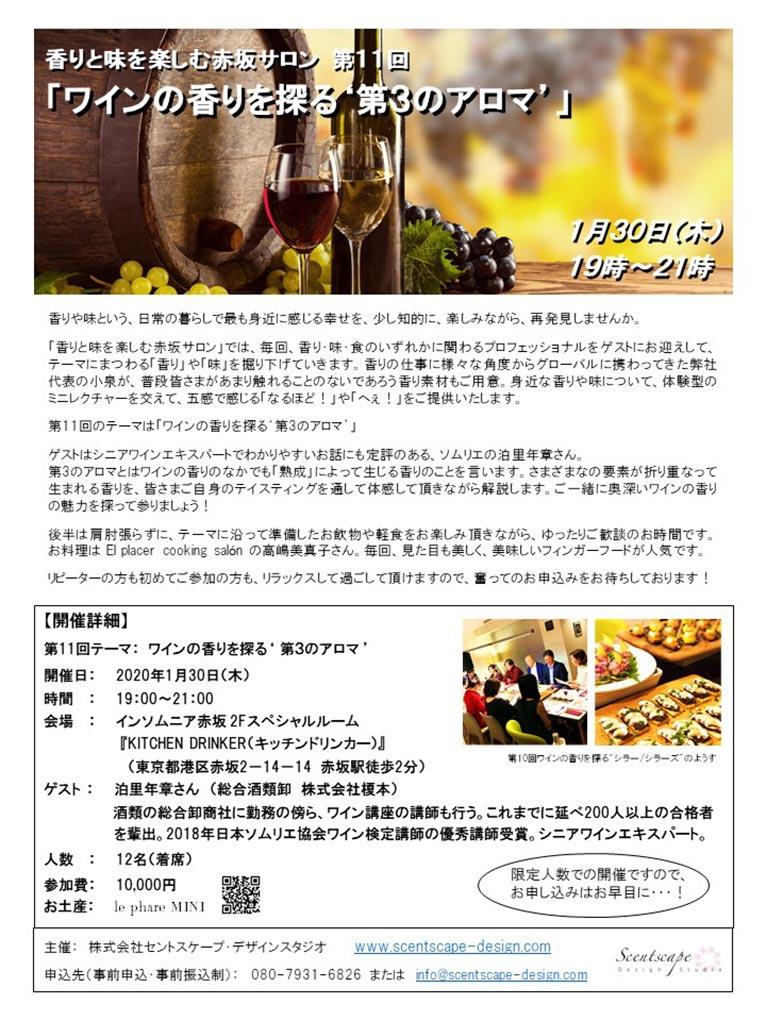 2020年1月30日第11回「香りと味を楽しむ赤坂サロン」株式会社セントスケープ・デザインスタジオ