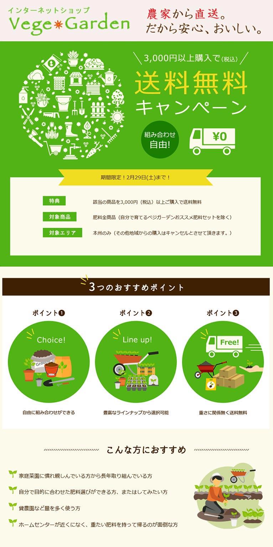 ~2020年2月29日【肥料全商品】送料無料キャンペーン ベジガーデン Vege Garden 朝日工業(株)