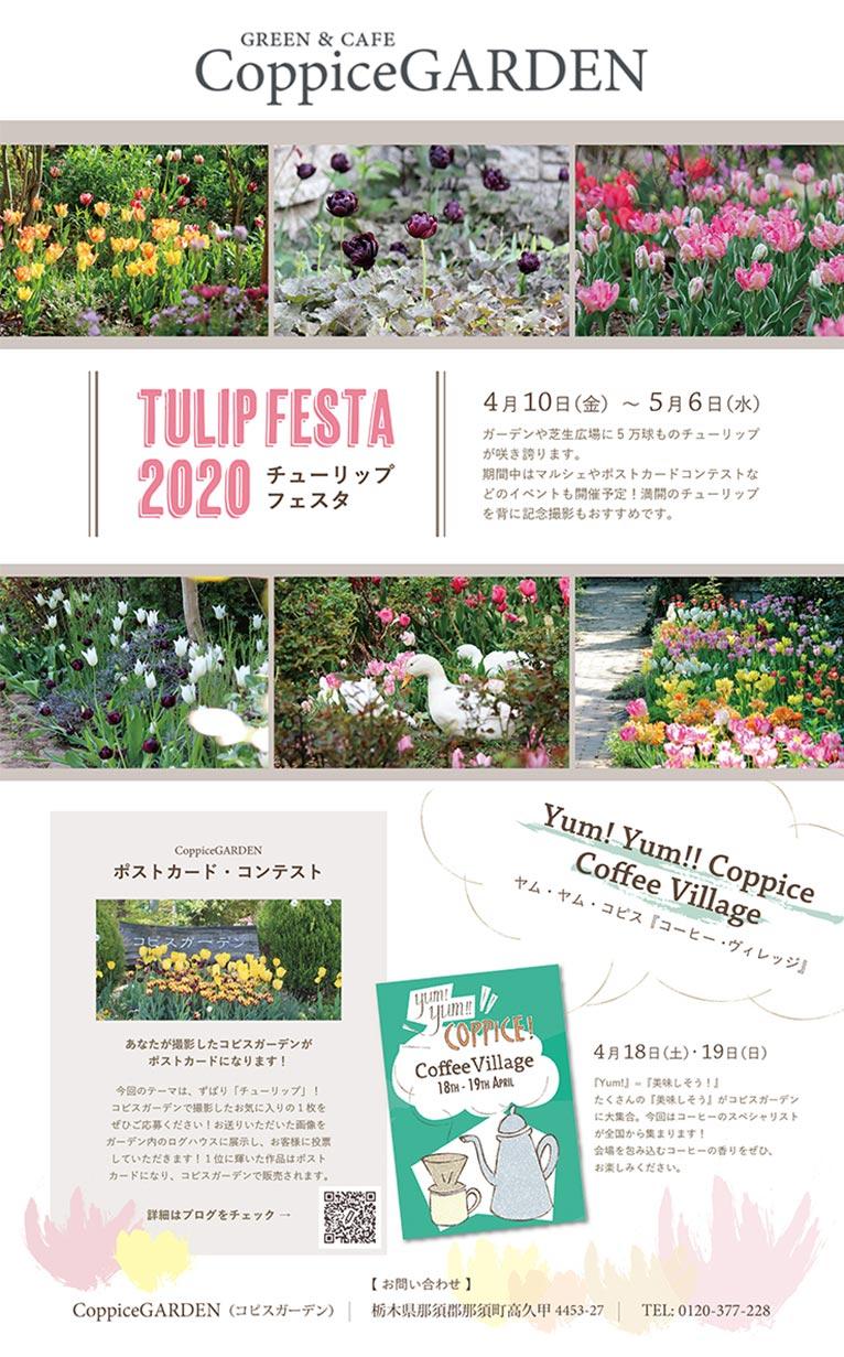 2020年4月10日~5月6日『チューリップフェスタ2020』コピスガーデン
