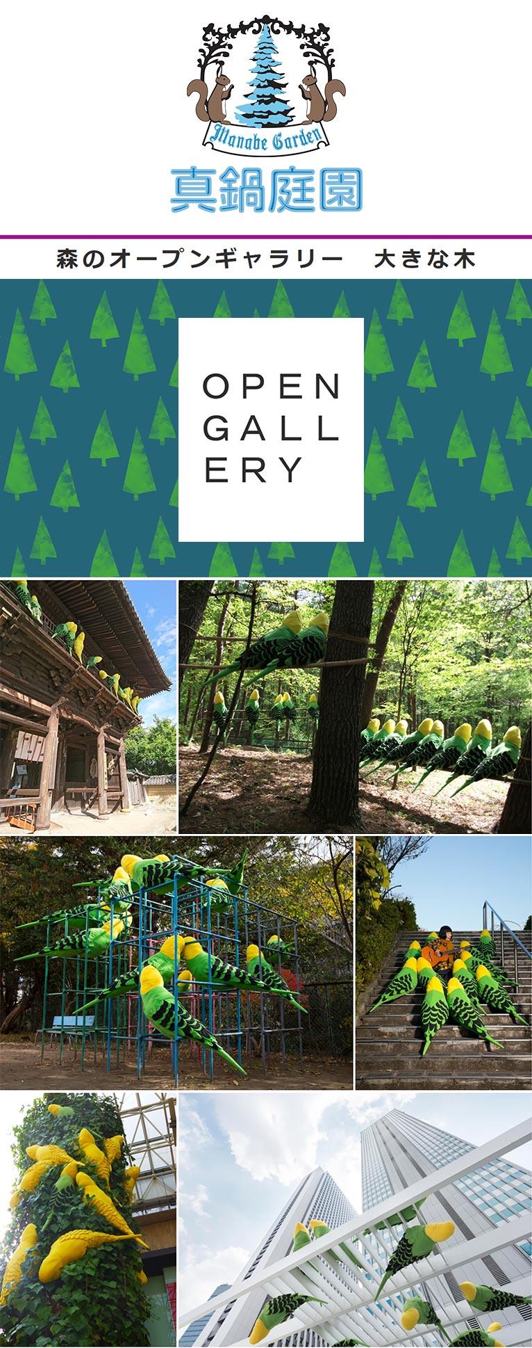 2020年5月1日~7月31日 川上 和歌子 大きな森の大きな小鳥展 真鍋庭園『森のオープンギャラリー 大きな木』