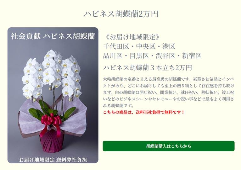 胡蝶蘭ギフトで社会貢献 ハピネス胡蝶蘭 株式会社はこねフローリスト
