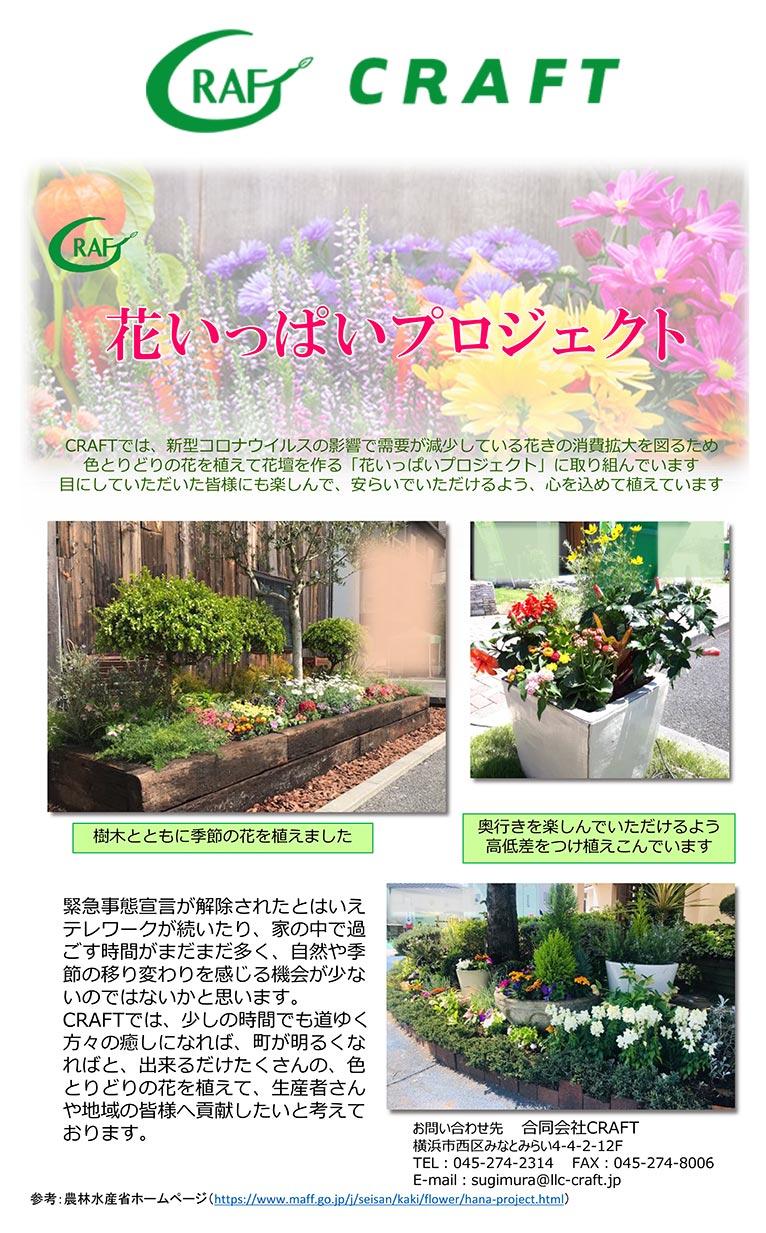 CRAFTは農林水産省『花いっぱいプロジェクト』に参加しています!