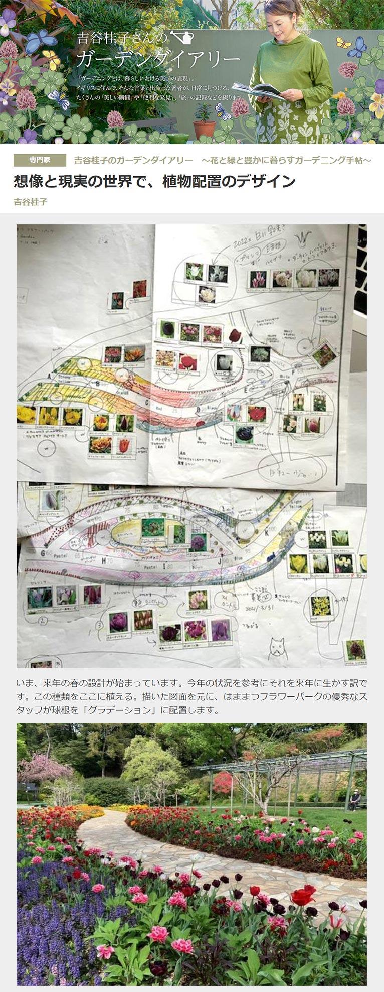 想像と現実の世界で、植物配置のデザイン 吉谷桂子のガーデンダイアリー ~花と緑と豊かに暮らすガーデニング手帖~