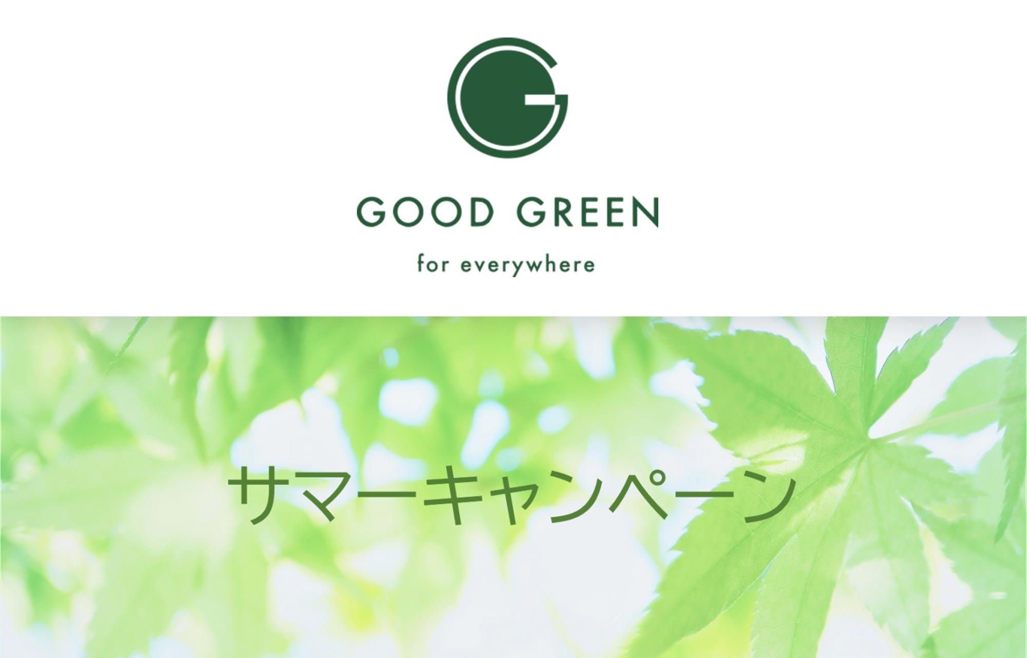 2021年7月1~31日 サマーキャンペーン実施中! 観葉植物レンタル・リースのGOOD GREENグッドグリーン